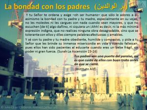 Breve interpretación (tafsir) del Corán la bondad con los padres